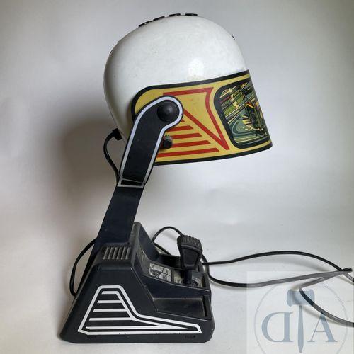 Helmet lamp FASE model Porsche 956 around 1970. GOOD CONDITION. H 40 X 25 X 16 …