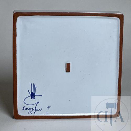 Pocket box by Stig Lindberg for GustavBerg. Hand painted ceramic. Sweden, signed…