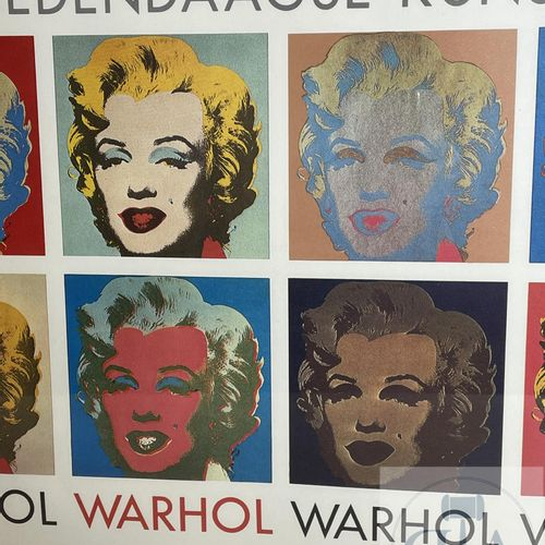 Poster of the Andy Warhol exhibition of 1990 at the museum of Ghent in Belgium. …