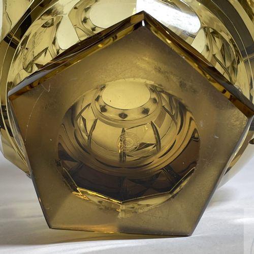"Crystal vase ""Val Saint Lambert"" circa 1940. Marked. TBE+. H 28 X 20 cm"