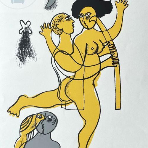 Corneille/lithographie illustrant une couple. Signé n°/100 et daté 1988. TBE+. 6…