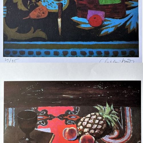 Roger Chapelain/Paire de Lithographies signées. TBE+. 70 X 45