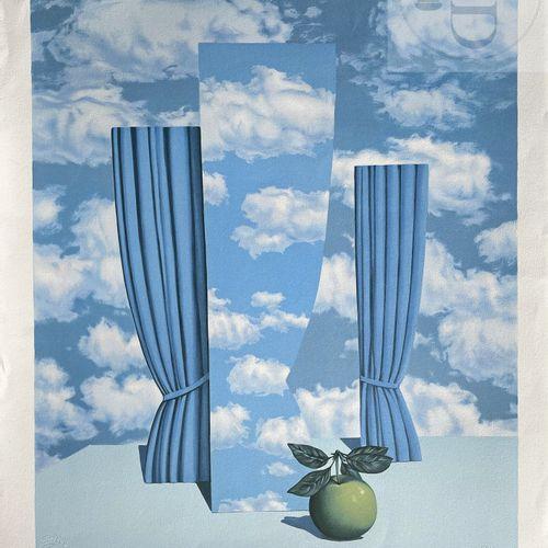 """Magritte/Lithographie """"Le beau monde"""" éditée en 2003 avec cachet """"succession Mag…"""
