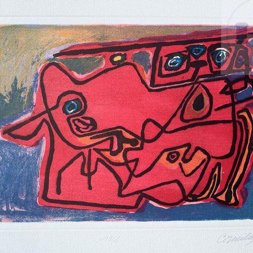 """Corneille/lithographie """"1948"""". Signé EA et daté 1988. TBE+. 80 X 60 cm 38 X 28 c…"""