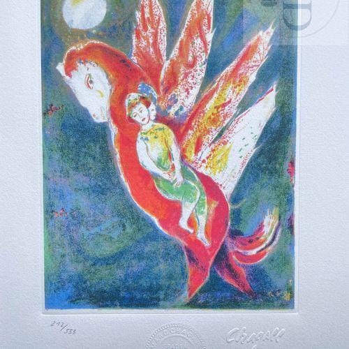 Chagall/Lithographie éditée en 1985 et n°/333 ex. Etat neuf. 33 X 38 cm