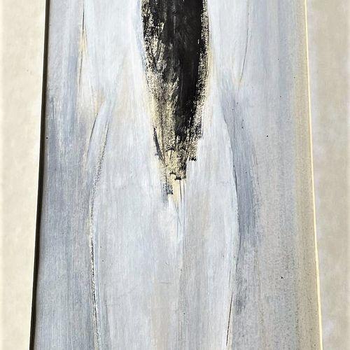 """De La Bourdonnaye/Oeuvre originale """"Ni ô"""" """"illustrant une femme de dos. Gouache …"""