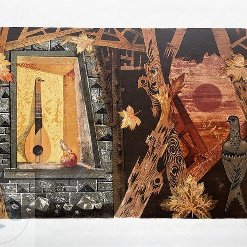 Ransy Jean/Lithogrphie signée et n°/145 ex. TBE+. 65 X 50 cm
