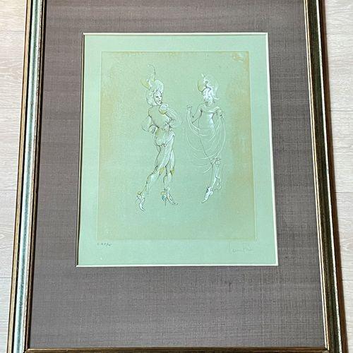 """Léonord Fini/Lithographie """"Les capricieuses"""" vers 1976. Signé et n°EA/25 ex. TBE…"""