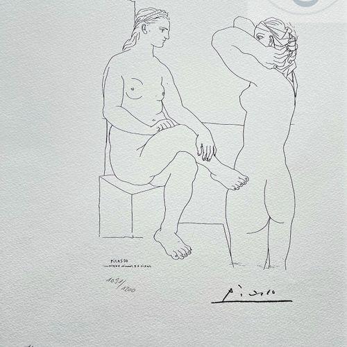 """Picasso/Lithographie """"Vollard suite LXXX"""" éditée en 1973 et n°/1200 ex. Etat neu…"""