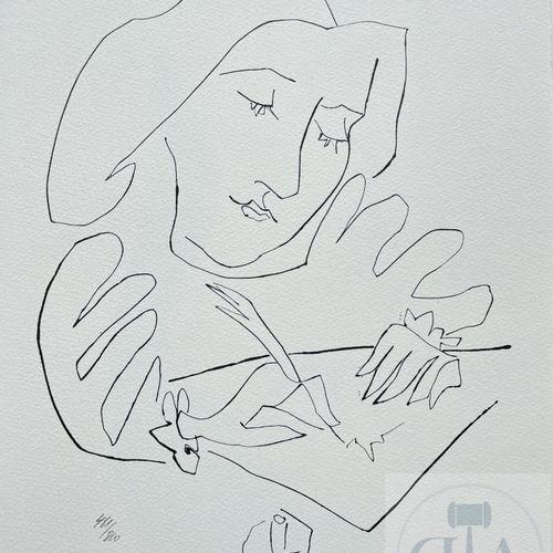 """Picasso/Lithographie """"Gongora planche IV"""" éditée en 1972 et n°/800 ex. Etat neuf…"""