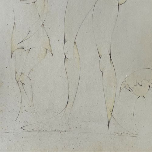 """Delporte Charles/Œuvre originale """"Number one"""" illustrant une mère et ses enfants…"""