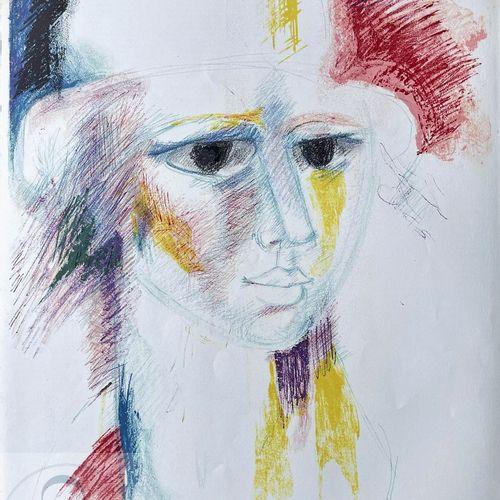 Sommeville/Lithographie illustrant un personnage féminin. Signé et n°/50 ex. TBE…