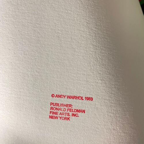 """Andy Warhol/Endangered species. Lithographie illustrant un panda """"géant"""" à domin…"""