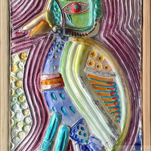 Corneille/Sculpture représentant un oiseau exotique. Argent massif martelée pein…