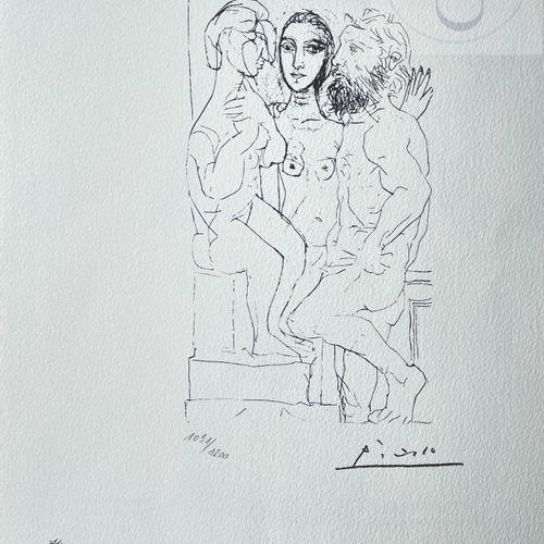 """Picasso/Lithographie """"Vollard suite planche XL"""" éditée en 1973 et n°/1200 ex. Et…"""