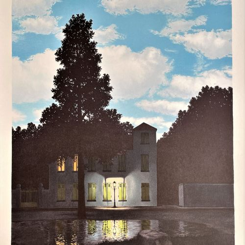 """Magritte/Lithographie """"L'empire des lumières"""" éditée en 2003 avec cachet """"sucess…"""