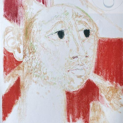 """Sommeville/Lithographie """"Arlequin"""" vers 1970. Signé et n°HC. TBE. 75 X 55 cm"""