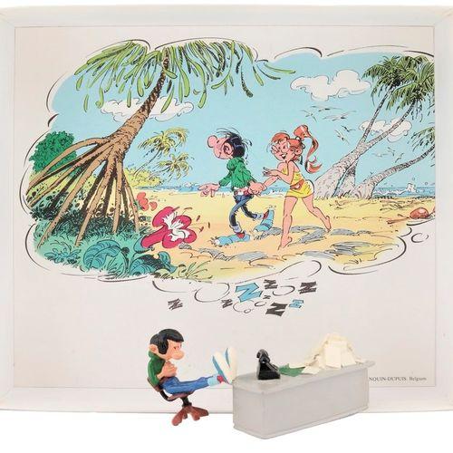 """Franquin/Gaston. Ref 4689 """"Gaston endormi à son bureau"""" édité à 3000 ex vers 198…"""