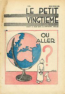 """Hergé/Tintin. Ref Pixi 46932 """"Tintin et Milou mappemonde"""". Tiré d'une couverture…"""