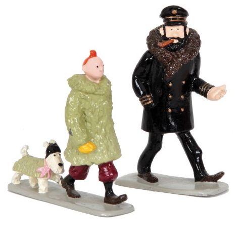 "Hergé/Tintin. Ref Pixi 4534 ""Tintin Milou et Haddock en manteau"". Tiré de l'albu…"