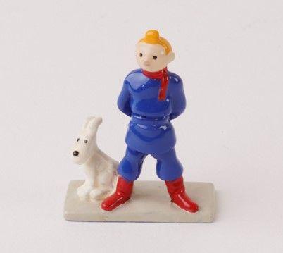 "Hergé/Tintin. Minipixi ref 2105 ""Tintin Soviet""。 来自1994年左右出版的《丁丁在苏联的土地上》专辑,共3475…"