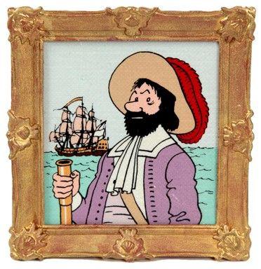 """Hergé/Tintin. L'objet du mythe Ref Pixi 5610 """"Le cadre du chevalier de Hadoque"""".…"""