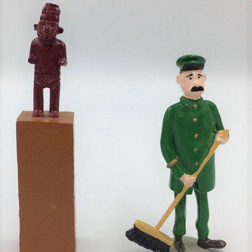"""Hergé/Tintin. Ref Pixi 4413 """"Le fétiche Arumbaya"""" avec Jules le gardien du musée…"""