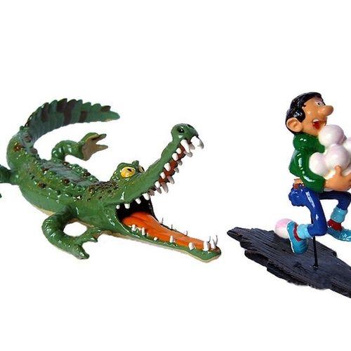 """Franquin/Gaston. Ref 4742 """"Gaston et le croco"""" édité à 1000 ex vers 2002. Emball…"""