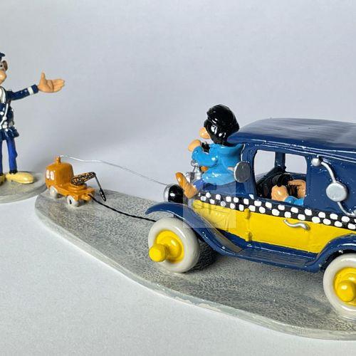 """Franquin/Gaston. Ref 4755 """"Taxi de Gaston et la mini dépanneuse avec Longtarin"""" …"""