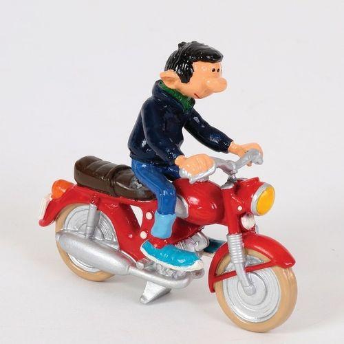 """Franquin/Gaston. Ref 4700 """"Gaston à moto"""" édité à 1500 ex vers 1991. Emballage e…"""