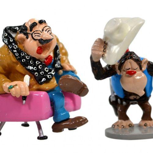 """弗朗昆/加斯顿。 Ref 4765 """"Demesmaeker et le chimp cowboy""""。 2004年左右以1000元的价格出版。包装和原产地证书。…"""