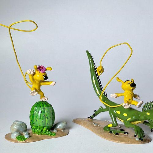 """Franquin/Marsupilami. Ref 4643 """"Bibi sur le cactus et Bibu sur l'iguane"""". Edité …"""