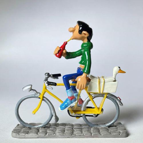 """弗朗昆/加斯顿。 Ref 4757 """"Gaston à vélo """"在2004年左右编辑于1000 ex。 包装和原产地证书。 新的条件"""