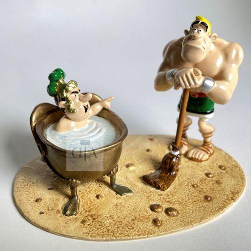 """Uderzo/Astérix. Ref 4178 """"Le centurion Mordicus dans sa baignoire"""" édité à 500 e…"""