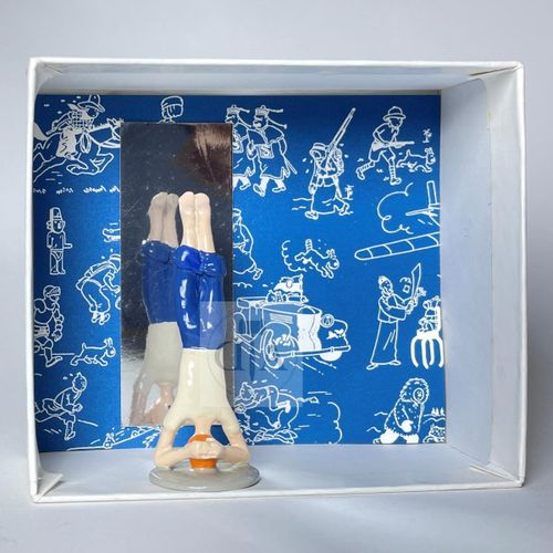"Hergé/Tintin. Ref Pixi 4539 ""Tintin Yoga"". Tiré de l'album ""Tintin et les Picaro…"