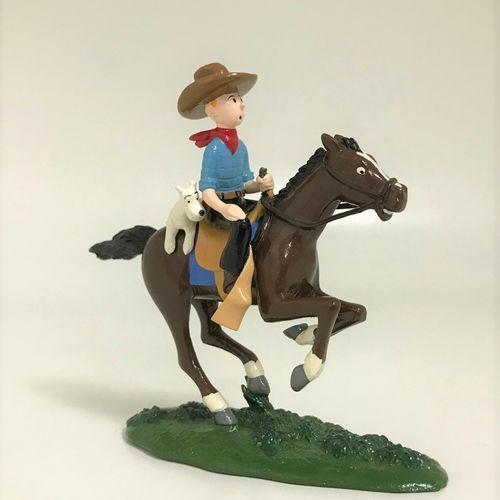 """Hergé/Tintin. Ref Pixi 4543 """"Tintin Cowboy et Milou à cheval"""". Tiré de l'album """"…"""