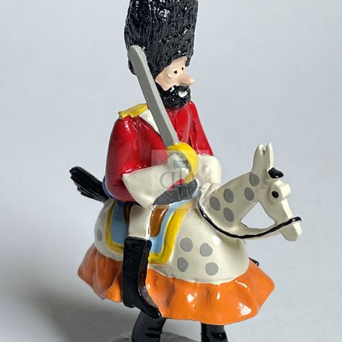 """Hergé/Tintin. Ref Pixi 4506 """"Haddock à cheval jupon"""" Tiré de l'album """"Objectif l…"""