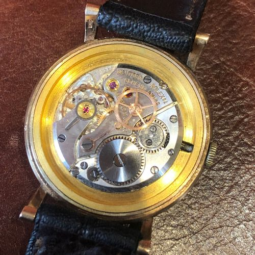 A 1950s 9ct gold cased Rolex Precision wristwatch, Montre bracelet Rolex Precisi…