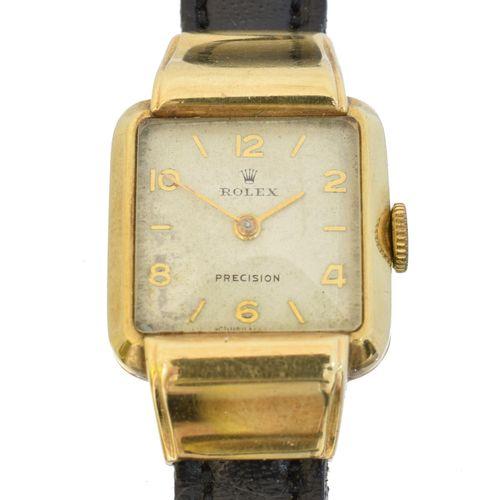 A 9ct gold Rolex Precision wristwatch, Une montre bracelet Rolex Precision en or…