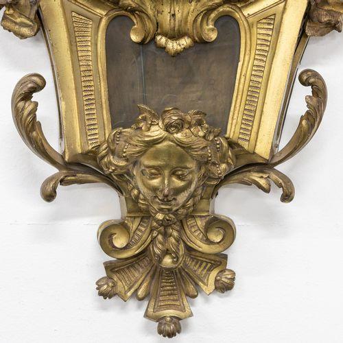 A cartel clock 'Le Nepveu à Paris'. Bronze case in Louis XV style. (13 x 40 x 93…