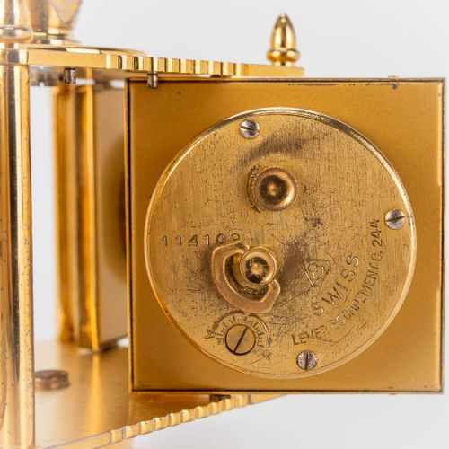 A weather station with thermometer, hygrometer, barometer and clock made by Imho…