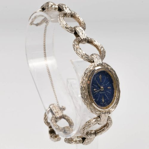 A collection of 3 ladies wristwatches with 18 karat gold case and bracelet, Jaeg…