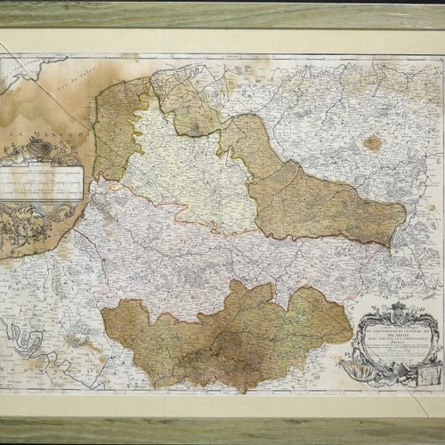 """Topographic map / of the General Government of / Picardy / With all the frontie…"