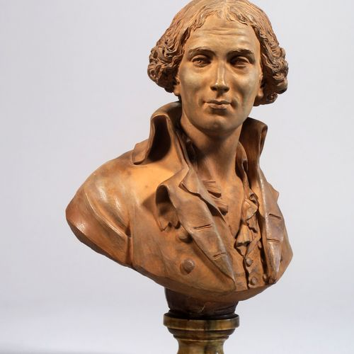 Augustin Pajou (1730 1809)  Portrait, en buste, du marquis Antoine Louis Francoi…