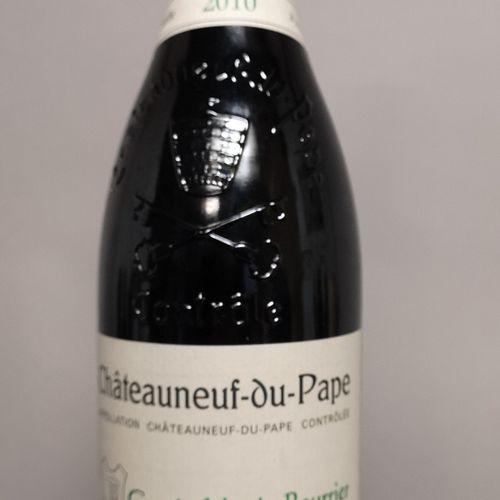 """1 bouteille CHATEAUNEUF du PAPE """"Marie Beurrier"""" Henri BONNEAU 2010 LOT VENDU SU…"""
