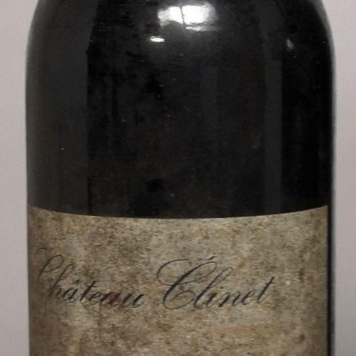 1 bouteille CHÂTEAU CLINET POMEROL, 1989 Etiquettes tachées. LOT VENDU SUR DESIG…