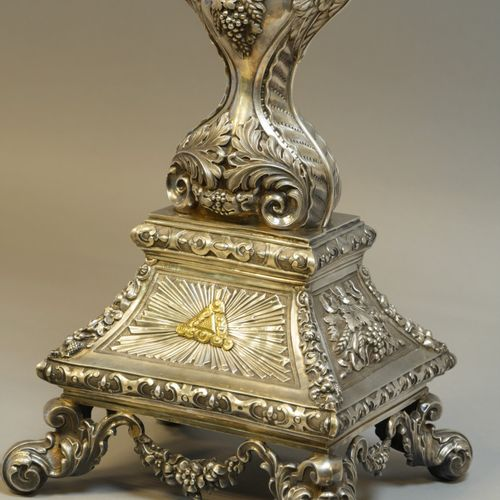 FAVIER, Pierre Henry (1809 Vers 1870).  Grand Ostensoir en argent et vermeil gra…