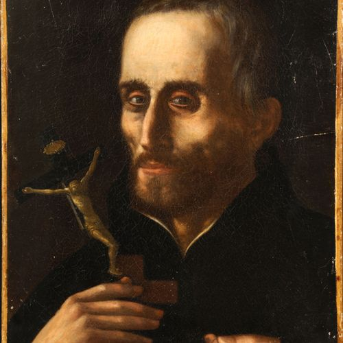 Ecole flamande du début du XIXe siècle  Portrait présumé de St Ignace de Loyola …