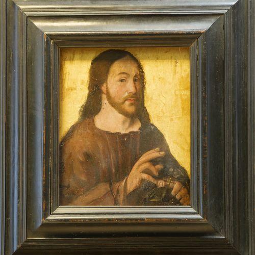 Ecole de la Renaissance. Salvador Mundi. Huile sur panneau parqueté. 37,5 x 30 c…