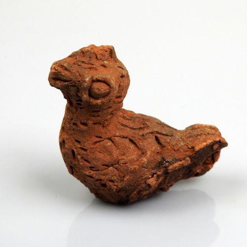 Coq au plumage incisé  Terre cuite 7.2 cm  Période romaine